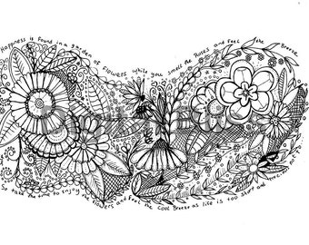 INSTANT DOWNLOAD Adult Coloring Page, Design Colouring Page, Garden Of Life Coloring Page , Kids Colouring Page, Kids Craft Activity