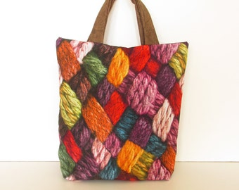 Knitting Tote Bag - Gift Idea - Knitter Gift - Bags and Purses