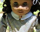 FREE SHIPPING, A Nice Historical Dress-fit any 18 Inch  dolls like the American Girl Doll Addy, Cecile or Marie-Grace