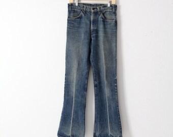 1970s Levis jeans, Levis 646 denim flare leg, 30 x 32