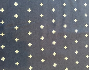 Cross in midnight, Wander Collection by Joel dewberry for Free Spirit Fabrics 1/2 yd