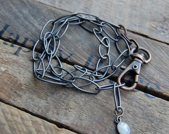 Gunmetal Chain Wrap Bracelet