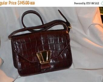 On SALE Henri Bendel Bag~Vintage EXOTIC Leather Handbag Made in the USA Prim & Proper Pocketbook Jackie O Excellent Condition