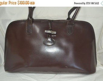 Summer Blow Out Longchamp Bag~Longchamp Leather Bag~~Brown Longchamp