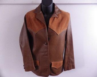 Gorgeous Vintage 2 tone Buckskin jacket Western style Ladies S - M