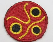 Mononoke mask Embroidered Iron on OR Sew on Patch