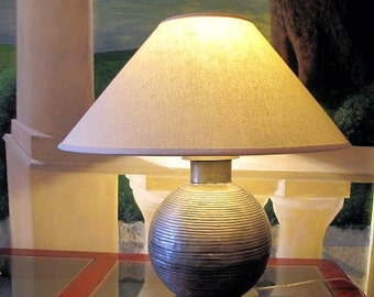 Table Lamp Light  Recycled from Vintage Indian Water Can