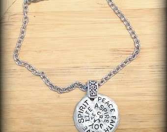 Antique Silver Pewter Inspirational Pendant