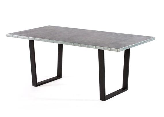zink-tabelle zink esstisch esstisch trenton zink, Esszimmer dekoo