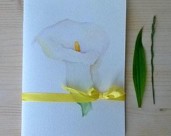 Callas - Handmade and Handpainted Notebook