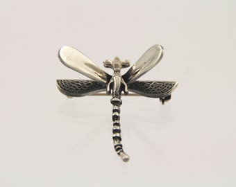 Very Cute Vintage Mexican Sterling Dragonfly Pin Brooch