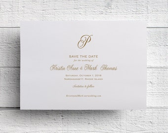 Monogram Save the Date - Sample
