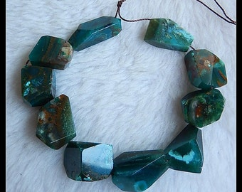Faceted Blue Opal Gemstone Loose Beads,1 Strand,22cm in the Lenght,49.8g
