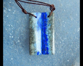Lapis Lazuli Gemstone Earring Bead,28x8x4mm,5.54g