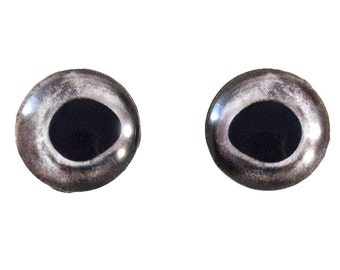 Taxidermy Fish Eyes - 16mm - Fish Eyes - Natural Silver