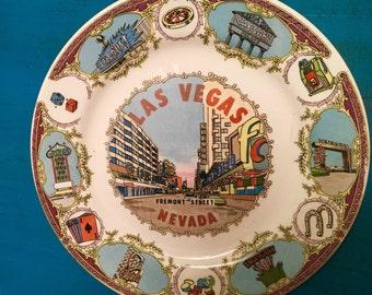Vintage Collectable Las Vegas Freemont Street Plate
