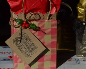 Country Christmas gift bag