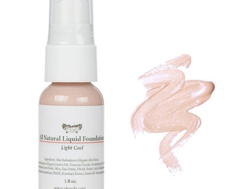 Light Cool Natural Liquid Foundation - Natural Makeup - Great For Acne - Rosacea