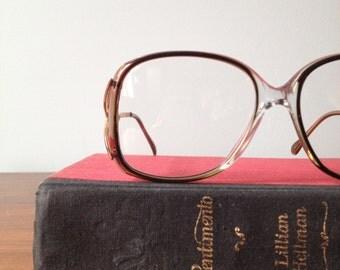 Dorette, Vintage Oversized Eyeglass Frames, Grey Rose Artisan 54/15, 120