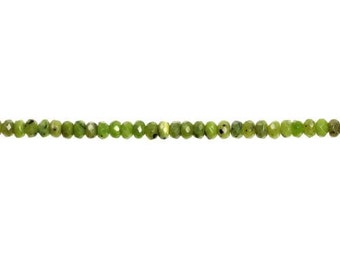 Jade Faceted Rondelle Bead 7.5-8x5mm - 1 Strand (9182) Wholesale price