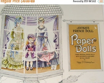 ON SALE Vintage Antique French Doll Paper Doll Book by Peggy Jo Rosamond 1975 Uncut Clothes Shop
