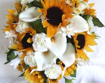 Sunflower wedding bouquet Etsy