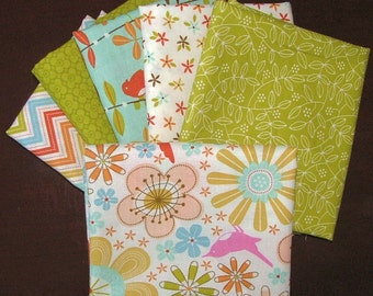 Fat Quarter Bundle of 6 from the Wrens & Friends Collection by Gina Martin for Moda LAST ONE