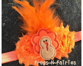 Lil Turkey Thanksgiving Baby Headband