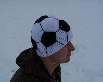 Men's soccer hat//crochet//23 inches
