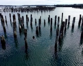 Old Pilings, Casco Bay,  My City By The Bay, The Maine Winter View, SPECIALIZING in CUSTOM ORDERS