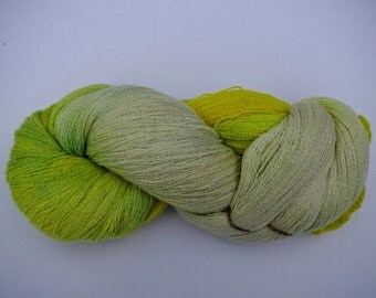 Hand Dyed Pure Alpaca Yarn Lace Weight 1675 yards