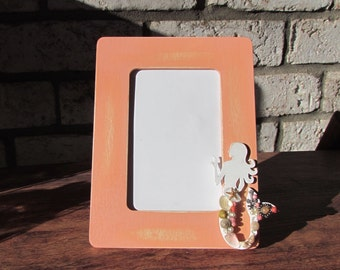 Beach Cottage Picture Frame with Mermaid