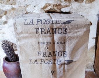 French La Poste sack Large Linen Hemp