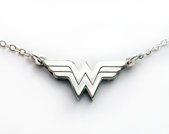 Wonder Woman Necklace - Sterling Silver - Comic Geek gift