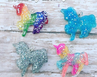 Handmade Resin unicorn charm  - Your Choice of Color