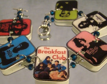 The Breakfast Club print art clasp bracelet - Movie Character - Fan art