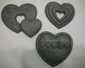 Burwood Hearts Wall Hanging Plaques 1987 Set of 3