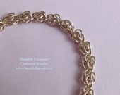 "Sterling Silver Bracelet - ""Drifting Clouds"" Chainmail Bracelet"