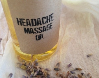 Headache Relief Massage Oil – Aromatherapy – Spa Treatment