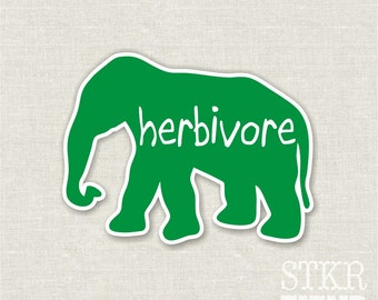 herbivore elephant bumper sticker