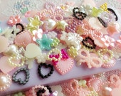 30pcs diy abs pearl beads cabochon mix styles random send