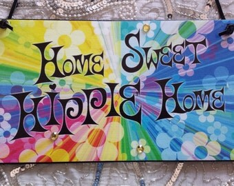 Home Sweet Hippie Home Decorative Wall Hanging Plaque
