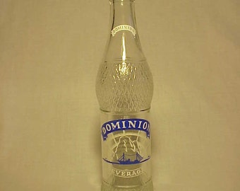 1964 Dominion Beverages Louis E. Farrell Burlington and Montpelier, Vermont, Clear ACL Painted Label Crown Top Soda Bottle