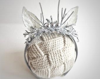 Reindeer headband in silver, photography prop, sitter reindeer headband, deer antlers,  newborn childrens photography