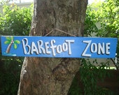 BARE  ZONE Tropical Pool Patio Beach Hot Tub Tiki Bar Hut Parrothead  Sign Plaque