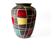 Vintage XXL Fat Lava West Germany KUBA  Floor Vase - Schlossberg 50s
