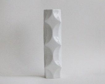 Modernist Architectural White German Vase   -  Winterling Rosiam 70s