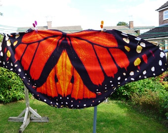 Monarch Butterfly wing cape skirt wrap shawl