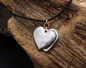 Spring Sale 10% Sliding Heart Locket in silver pewter