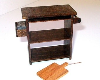 Kitchen Island Cabinet, Dollhouse Miniature 1/12 Scale, Hand Made